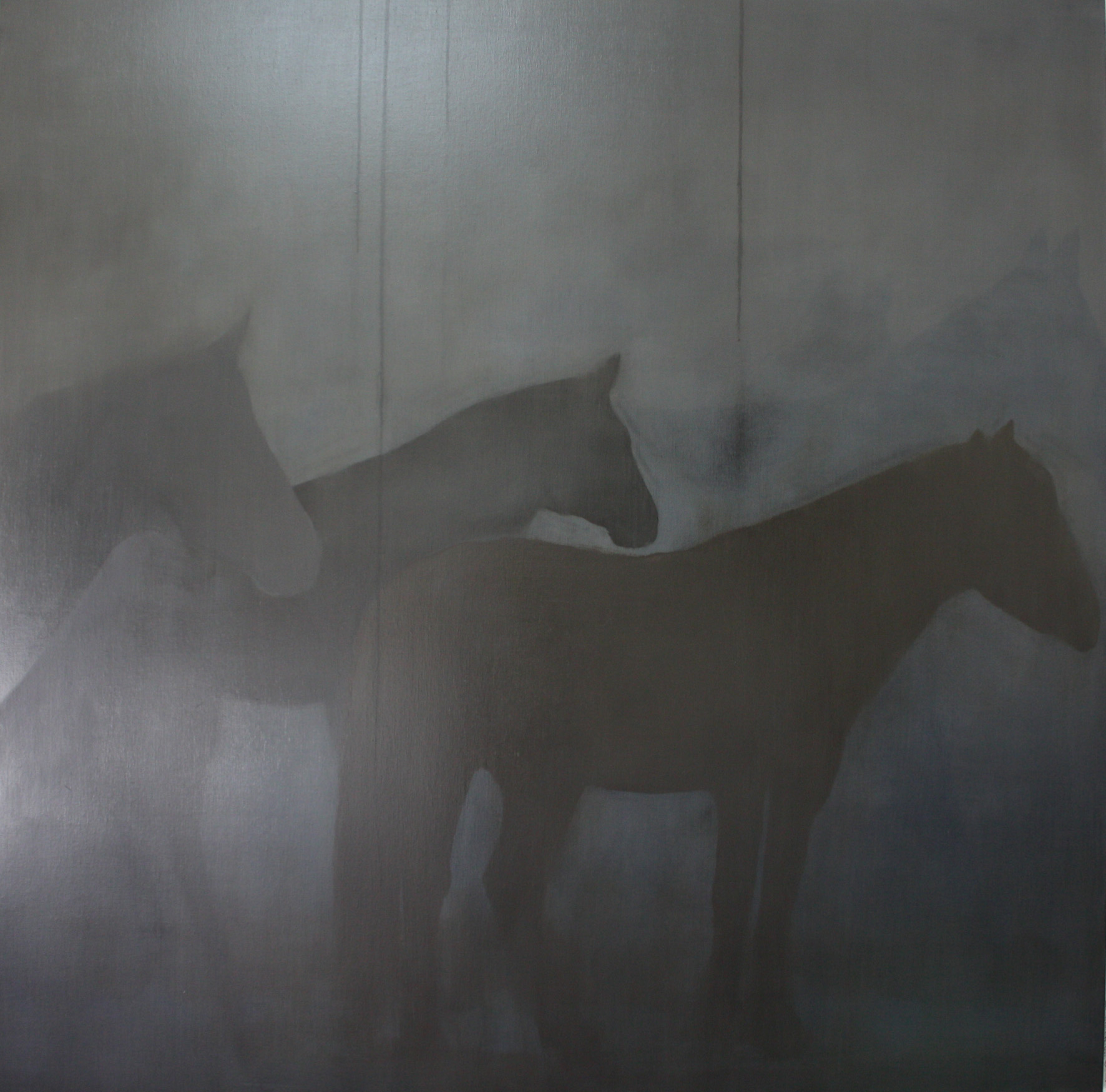 Adriane Strampp Presence of Past I oil on linen 152 x 152 cm 2010