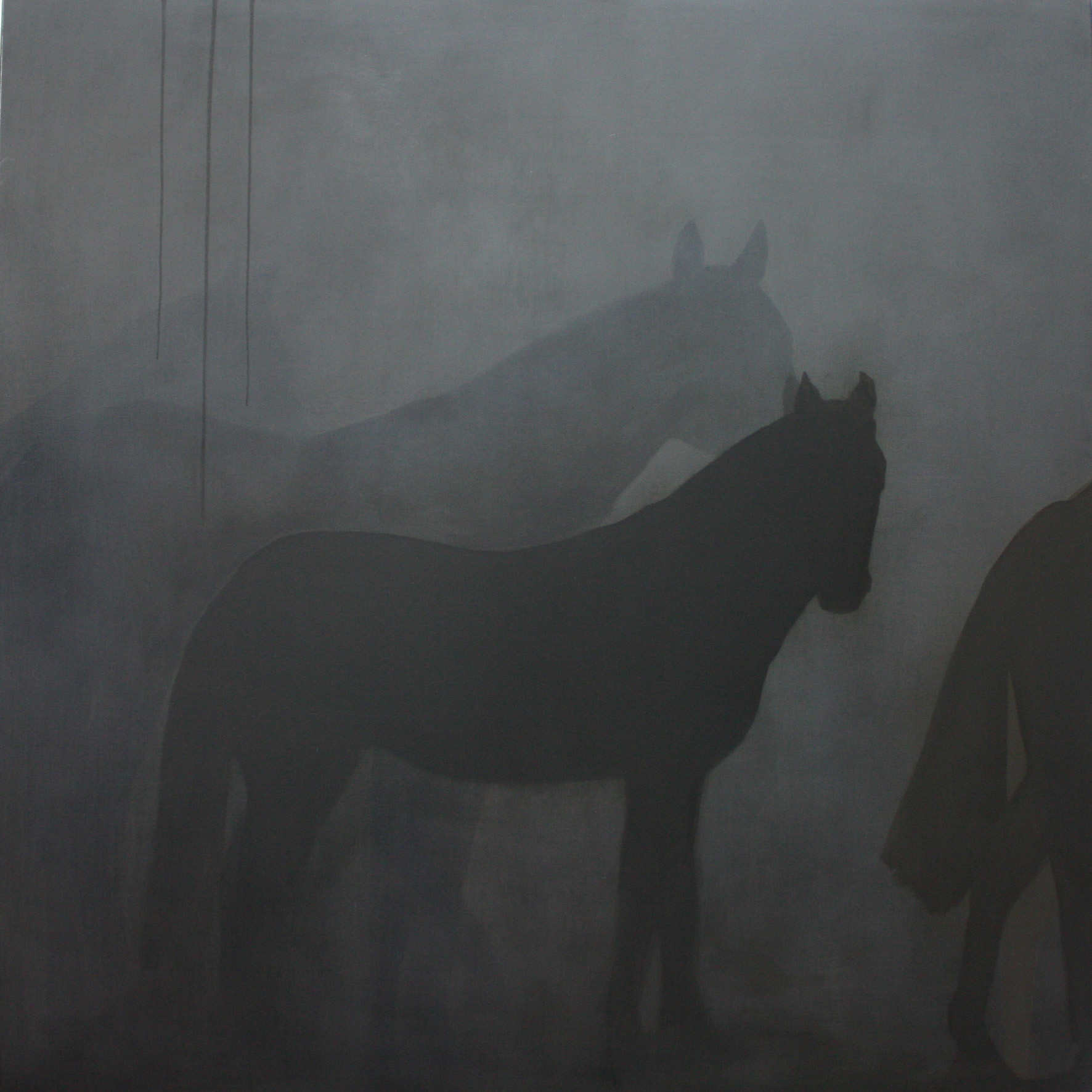 Adriane Strampp Presence of Past III oil on linen 152 x 152 cm 2010