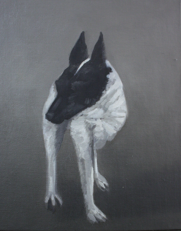 Adriane Strampp Tsuki IV oil on canvas board 25 x 20 cm 2010