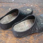 Adriane Strampp's paint spattered clogs