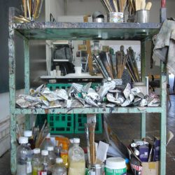 Adriane Strampp's Studio: Paint And Brushes