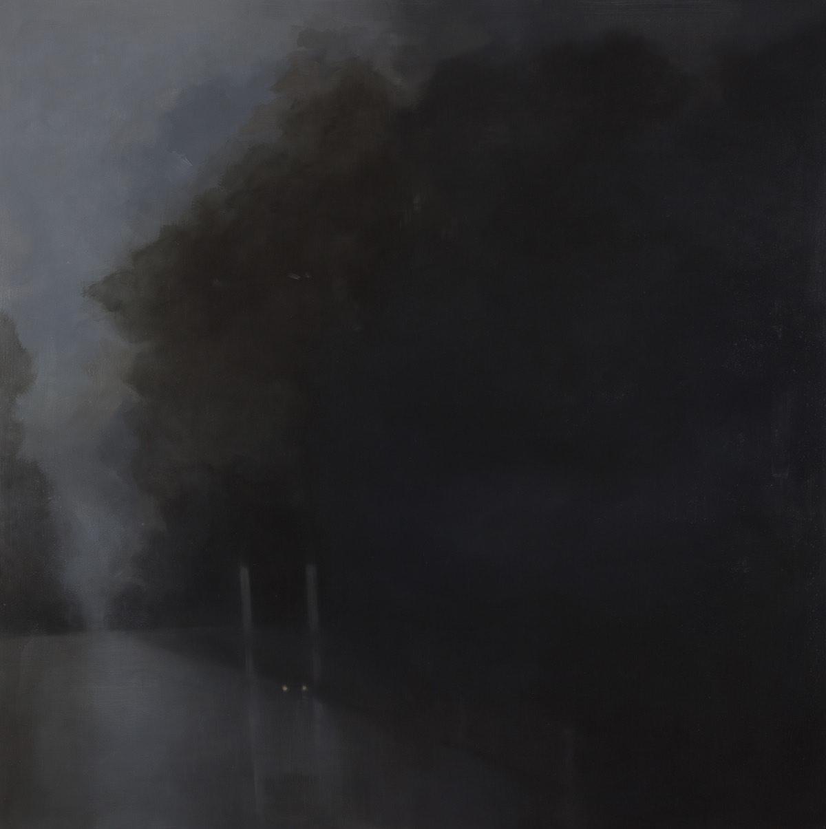 Unease 2013 oil/wax on linen 152 x 152 cm