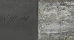 Memorium 2012 Oil, Wax, Paper And Lead On Board 25 X 180 Cm