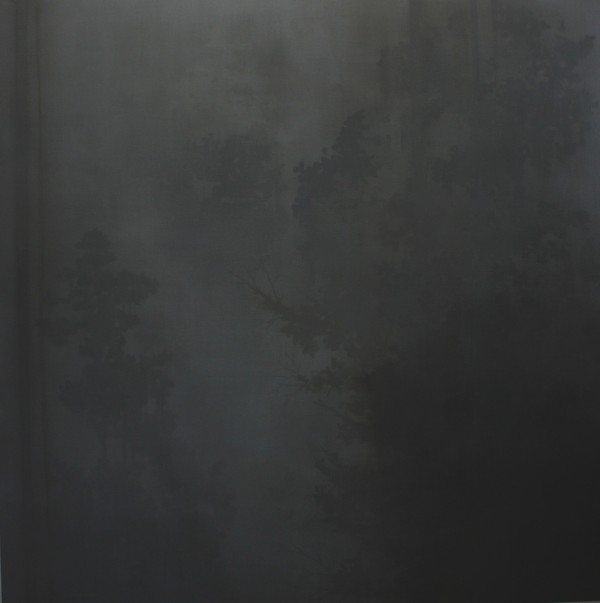 Grey Garden 2012 oil on linen, 152 x 152 cm