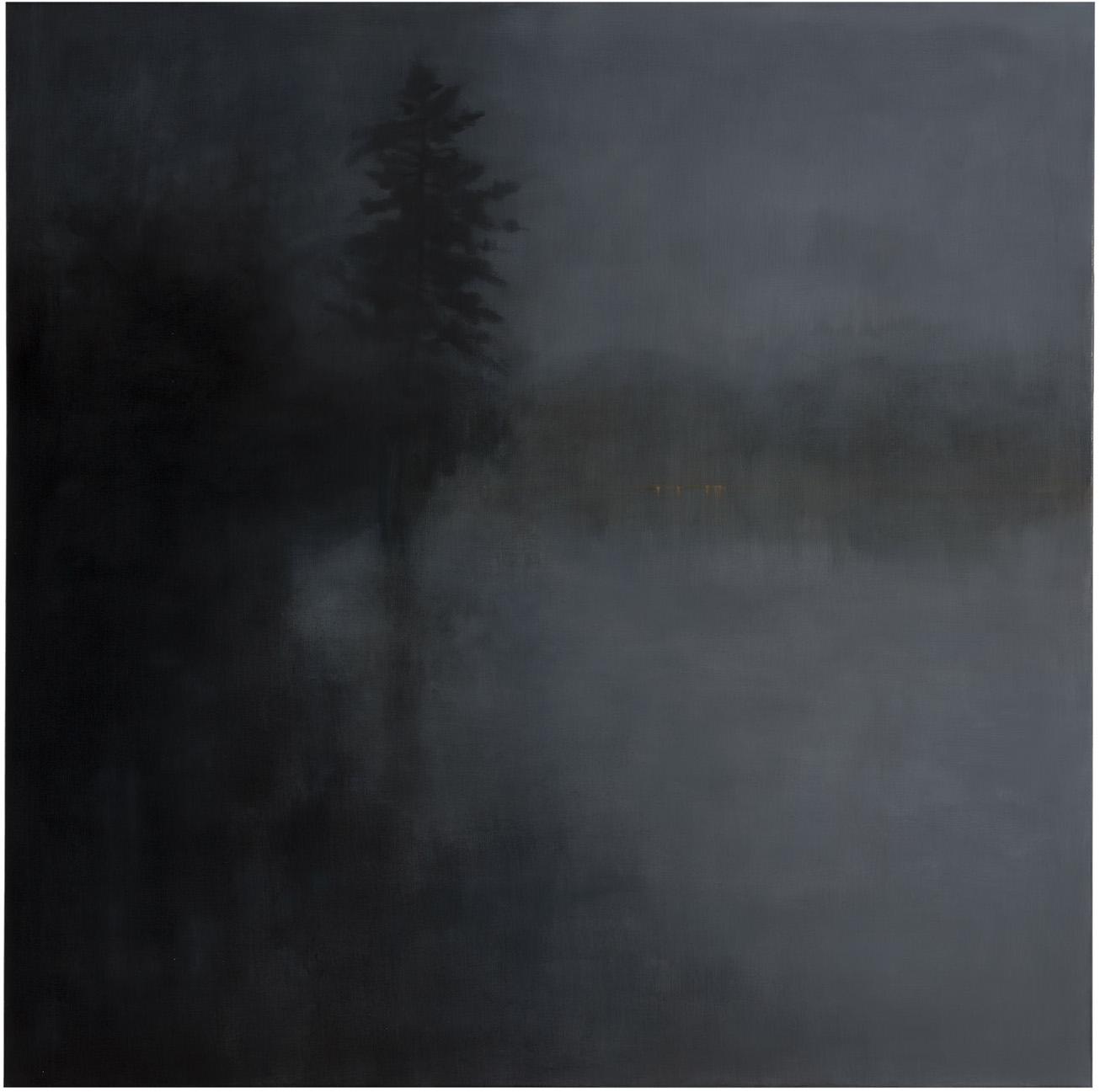 Night Light oil and wax on linen 152 x 152 cm