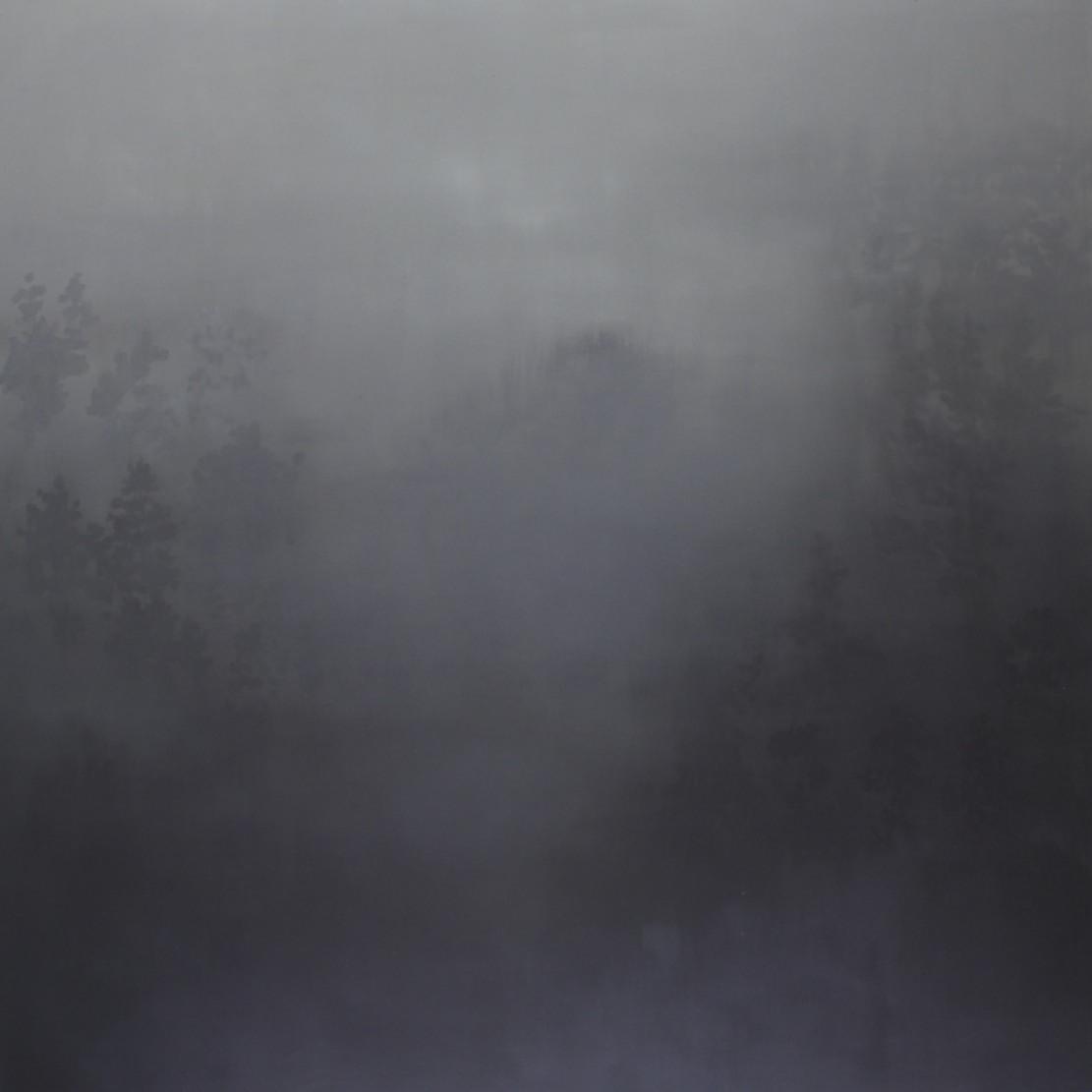 Mist 152 x 152 cm oil on linen