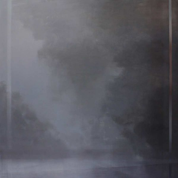 Adriane Strampp, Void, oil on linen, 152 x 152 cm